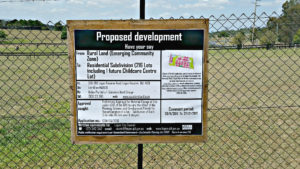 development signs
