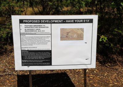 public notification signs Brisbane